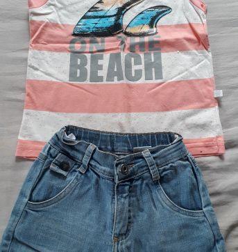 Conjuntinho Jeans - 1 ano - Carinhoso