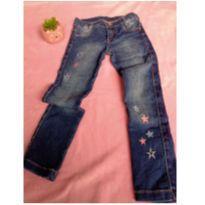 Calça Jeans Estrelinhas - 4 anos - Não informada