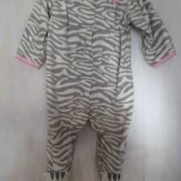 Macacão Zebrinha em Fleece Carters 9 meses - 9 meses - Carter`s