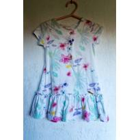 Vestido Floral Up Baby Tam 1 - 1 ano - Up Baby