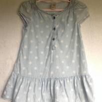 Vestido Blue Jeans Poa Tam 18m - 18 meses - OshKosh