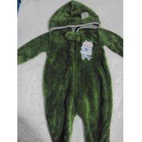 macacão em fleece com capuz lindo! - 3 a 6 meses - Toys & Kids