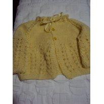 Casaquinho de lã feito a  mão - 0 a 3 meses - Não informada