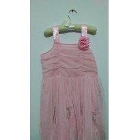 Vestido rosa festa - 10 anos - Não informada