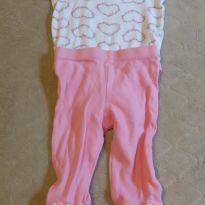 Conjunto coração - 3 a 6 meses - Nannette Baby - USA