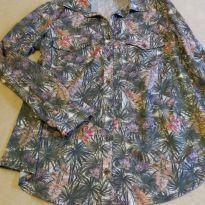 Camisa florida - M - 40 - 42 - Um à Nove