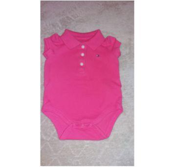 Body Tommy Rosa escuro - 3 a 6 meses - Tommy Hilfiger