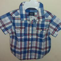 Camisa xadrez - 6 meses - Carter`s