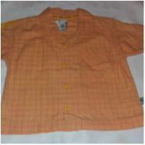 Camisa xadrez Tigor - 6 a 9 meses - Tigor T.  Tigre