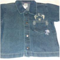 Camisa Jeans - 6 a 9 meses - Tigor T.  Tigre