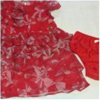 Vestido vermelho Lilica - 12 a 18 meses - Lilica Ripilica
