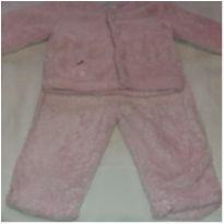 Conjunto peludinho rosa - 6 a 9 meses - Teddy Boom