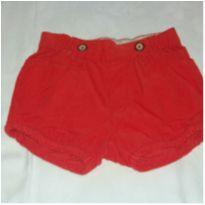 Short veludo laranja - 6 a 9 meses - H&M