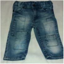Calça Jeans com recortes - 6 a 9 meses - H&M