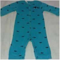 Macacão azul tubarões - 3 meses - Carter`s
