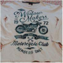 Camiseta manga longa moto - 10 anos - Randa Mundu