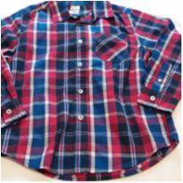 Camisa xadrez vermelha e azul - 6 anos - Faded Glory (EUA)