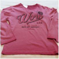 Camiseta  longa rosa - 6 anos - Alakazoo!