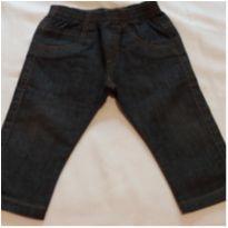 Calça Jeans escura molinha - 6 a 9 meses - Camú Camú