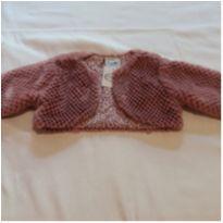Casaquinho peludo rosa - 1 ano - Look jeans