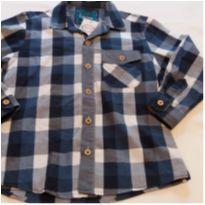 Camisa xadrez azul e branca - 4 anos - Figurinha
