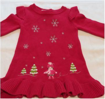Vestido tricot vermelho - 3 a 6 meses - Gymboree