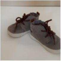 Sapato botinha cinza - 21 - Não informada