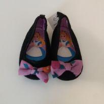 Sapatilha preta veludo Alice - 20 - Disney