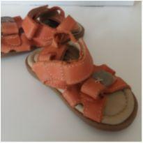 Sandália couro laranja - 19 - Ortopasso