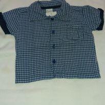Camisa xadrez Planeta - 6 a 9 meses - Planeta pano