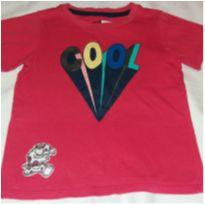 Camiseta vermelha Cool - 2 anos - Popcorn