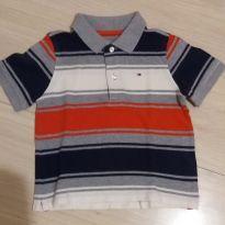 Camiseta Polo verm/cinza/branca - 2 anos - Tommy Hilfiger
