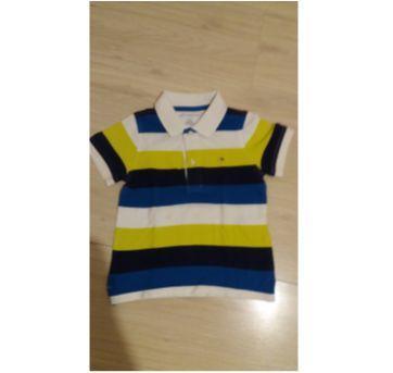 Camiseta Polo azul/branca/verde - 2 anos - Tommy Hilfiger