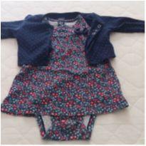 Conjunto vestido e casaquinho azul - 1 ano - Carter`s