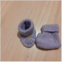 Sapatinho lã lilás - 02 - Não informada