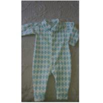 Macacão Fleece losango - 6 meses - junkes baby