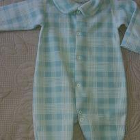 Macacão Fleece xadrez - 6 meses - junkes baby