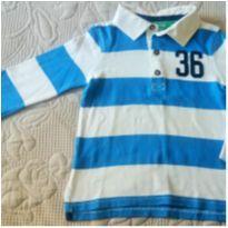 Camiseta polo listrada Carters - 2 anos - Carter`s
