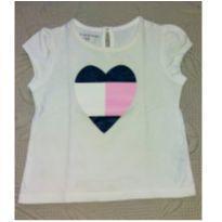 Blusa Tommy coração - 18 meses - Tommy Hilfiger