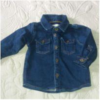 Camisa jeans manga longa - 6 a 9 meses - Baby Denim Collection