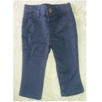Calça sarja azul marinho - 6 a 9 meses - Não informada