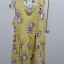 Vestido amarelo unicórnio H&M - 6 anos - H&M