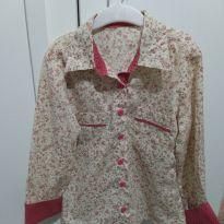 Camisa florida - 10 anos - Não informada
