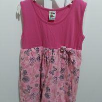 Vestido rosa borboleta - 8 anos - Não informada