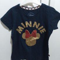 Camiseta azul marinho Minnie - 10 anos - Disney