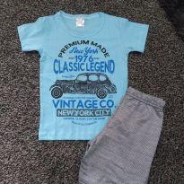 Conjunto camiseta e short menino - 6 anos - Não informada