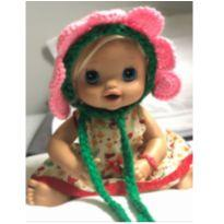 touca gorro para fotos newborn - 0 a 3 meses - Artesanal