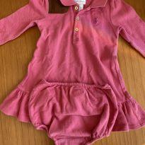 Vestido manga comprida Ralph Lauren - 9 meses - Ralph Lauren