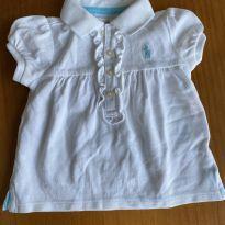 Polo branca Ralph Lauren - 6 meses - Ralph Lauren