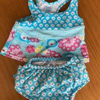 Biquíni - regata e calcinha fralda - 6 a 9 meses - Iplay